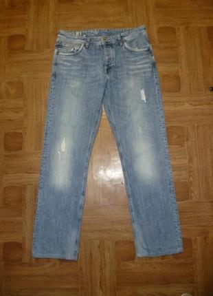 Фирменные джинсы-рванки на болтах,весна-осень для работы-дачи,мужские