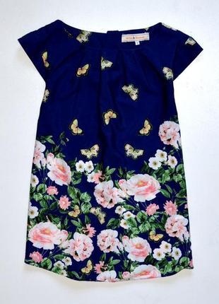 Dorothy perkins. красивая шифоновая блуза в цветочный принт. 10. м.38