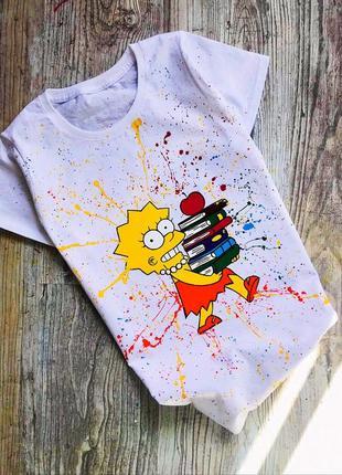 Handmade 🎨 футболочка ( ліса сімпсон) всі розміра .