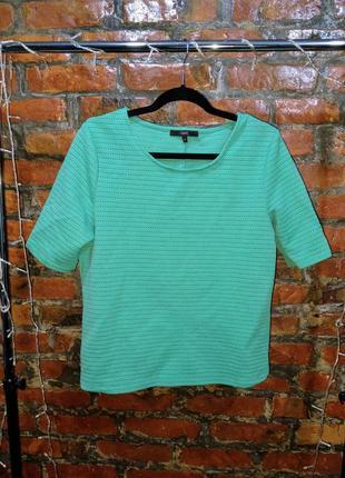Стильный топ блуза кофточка прямого кроя с перфорацией next