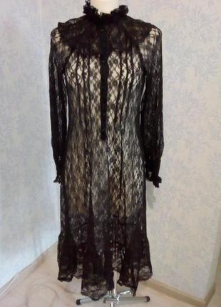 Гипюровое платье в винтажном стиле