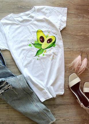 Handmade 🎨 футболочка авокадо🥑 всі розміра 🤗.