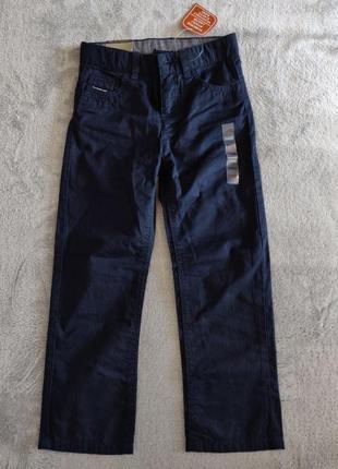 Брюки джинсы синие школьные