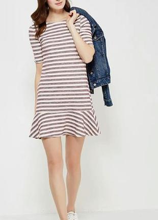 Платье в полоску, платье-футболка