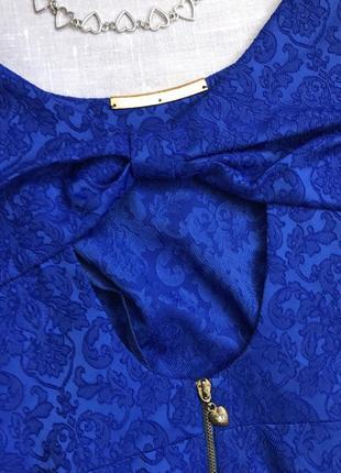 Шикарное синее платье на вечер👗3 фото