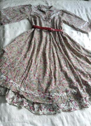 Винтажное ежедневное платье пастель.
