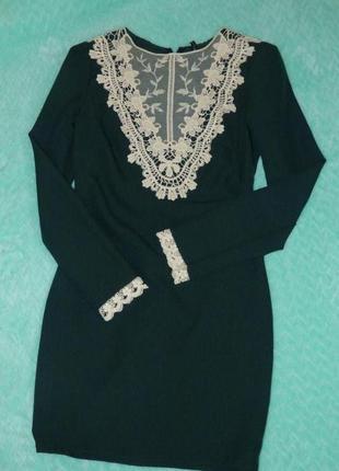 Классическое платье/платье с кружевом/деловое платье