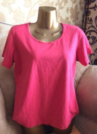 Розовая футболка стрейч