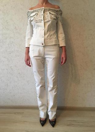 Джинсовый костюм gattinoni jeans