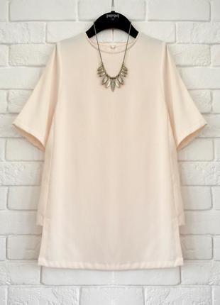Стильная блуза с вырезами по бокам h&m uk10 новая