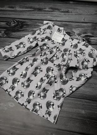 Платье котята, утеплённое 2-10 лет