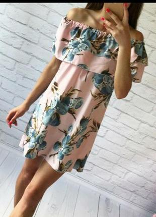 Летнее платье с рюшей2 фото