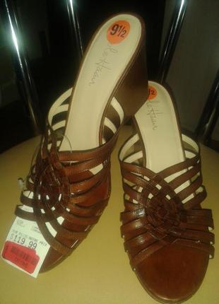 Женские кожаные босоножки cole haan 26 см. размер 39,5. новые!