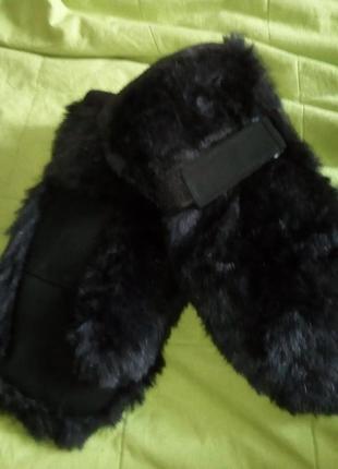 Теплые варежки рукавички true spirit. меховые варежки+ флис