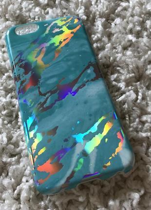 Новый силиконовый чехол для iphone 6 iphone 6s мрамор ультрамарин блестящий