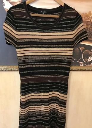 Шикарное платье -футляр massimo dutti в составе шелк