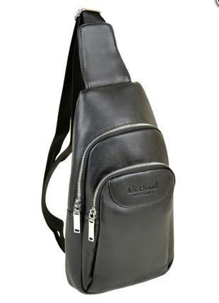 Сумка мужская рюкзак на плечо иск-кожа dr. bond 1102 black
