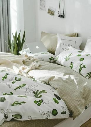 Постільна білизна, постельное белье, сатин, кактуси