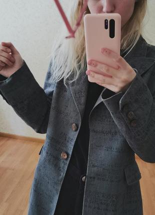 Винтажный итальянский брендовый пиджак4 фото