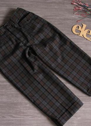 Тёплые шорты/ бриджи в клетку  размер eur 36- 38