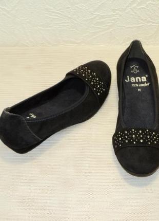 """Замшевые туфельки на танкетке от """"jana"""", р 37"""
