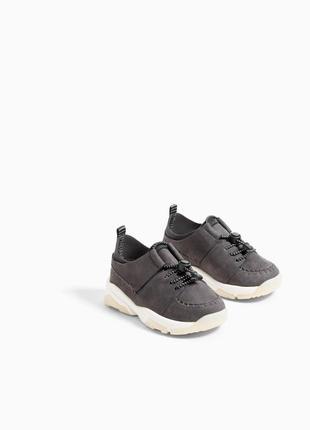 Кожаные кроссовки, сникерсы zara 23 размер