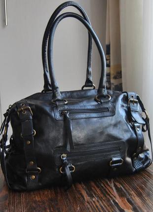 Кожаная сумка john lewis / шкіряна сумка