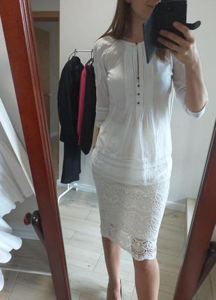 Натуральная блуза хлопок с шелком шелк massimo dutti