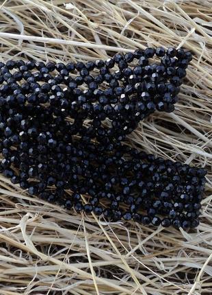 Повязка из бусин, черная повязка, браслет, повязка на голову, аксессуар на выпускной