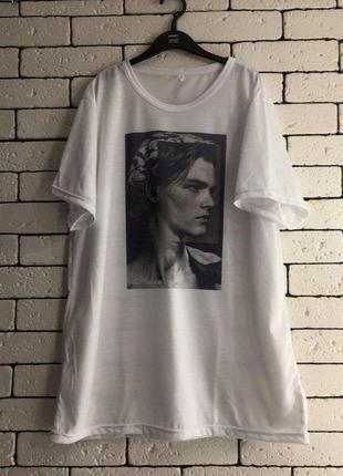 Мужская футболка с принтом - леонардо дикаприо
