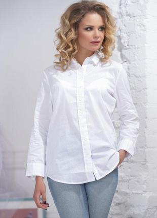 Классическая белоснежная рубашка zara