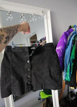 """Чёрная мини юбка от """"missguided"""""""