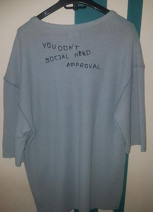 Крутая футболка-свитшот zara man в оверсайз стиле - р-р л
