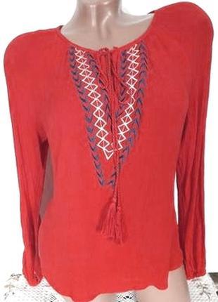 Красивая легкая блузка с вышитым узором от сorazon, размер xl