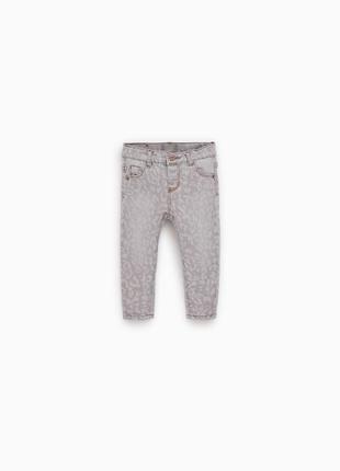 Модные джинсы с принтом zara на 2-3 и 3-4 года
