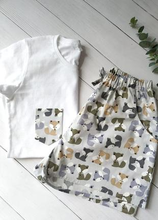 Женская пижама в лисички