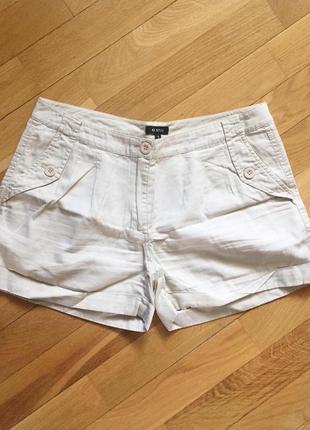 Бежевый хлопковые шорты