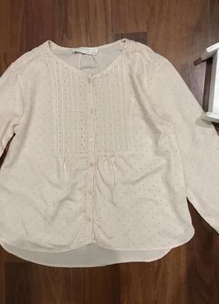 Блузка рубашка zara 6-7 лет
