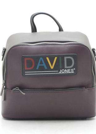 Новая бордовая женская сумка-рюкзак david jones
