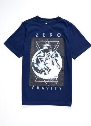 """F&f. тёмно синяя футболка  """"zero"""" . 10-11 лет. рост 146 см."""