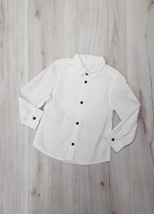Детская белая рубашка