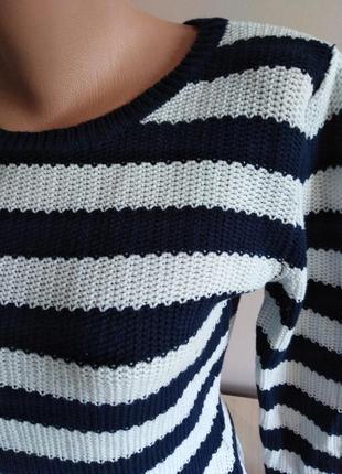 Вязанный свитер в полоску2 фото