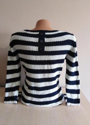 Вязанный свитер в полоску3 фото