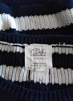 Вязанный свитер в полоску4 фото