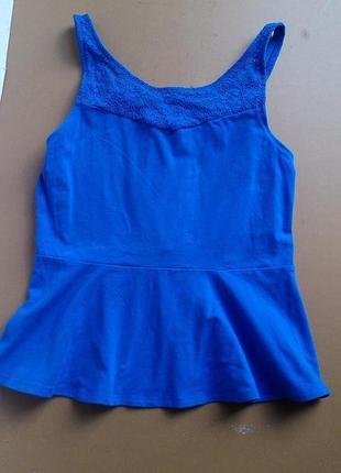 Фиалетовій топ блуза с баской