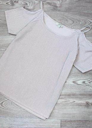 Блуза кофточка с вырезами плеч / текстурная с серебринкой, uk, 12/40