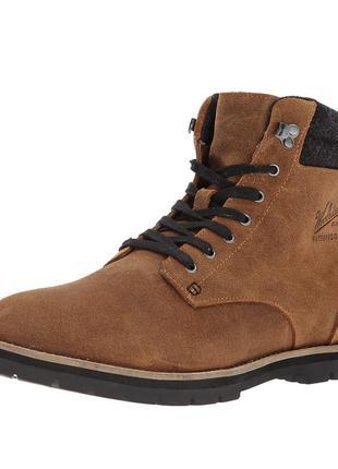 Кожаные деми ботинки woolrich 41,5р/27см оригинал timberland