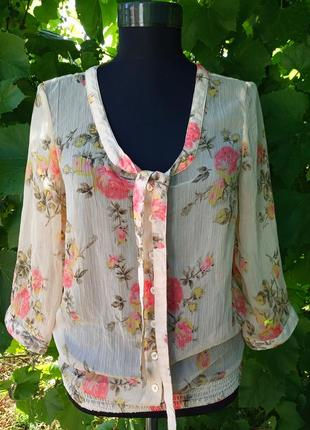 Красивая полупрозрачная блуза vero moda