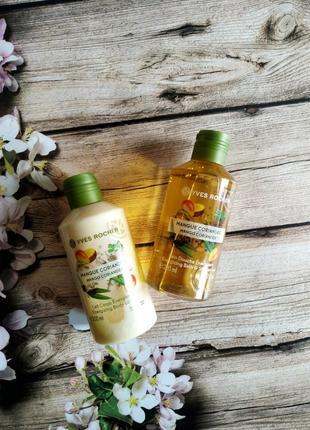Набор манго-кориандр: гель для душа + молочко для тела ив роше