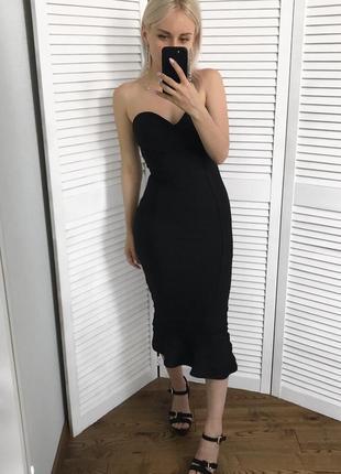 Ефектна облягаюча сукня-рибка/ вечернее платье/ бандажное платье